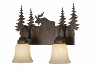 Vaxcel VL55602BBZ Yellowstone Rustic Burnished Bronze Finish 13.75  Tall 2-Light Vanity Light Fixture