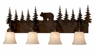 Vaxcel VL55704BBZ Bozeman Rustic Burnished Bronze Finish 14  Tall 4-Light Bath Lighting