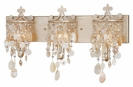 Vaxcel W0006 Anastasia Silver Leaf Finish 13  Tall 3-Light Lighting For Bathroom