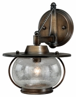 Vaxcel W0017 Jamestown Nautical Parisian Bronze Finish 11  Tall Halogen Wall Lighting Sconce