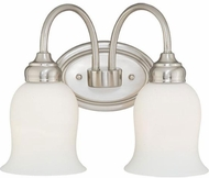 Vaxcel W0024 Snowdrop Satin Nickel 2-Light Bathroom Light