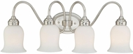 Vaxcel W0026 Snowdrop Satin Nickel 4-Light Vanity Lighting