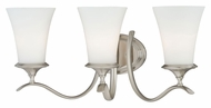 Vaxcel W0027 Sonora Satin Nickel Finish 10.5  Tall 3-Light Bath Lighting Fixture