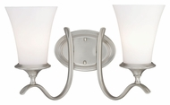 Vaxcel W0028 Sonora Satin Nickel Finish 10  Wide 2-Light Bathroom Light Fixture