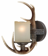 Vaxcel W0032 Yoho Country Black Walnut 11  Wide Wall Sconce Lighting