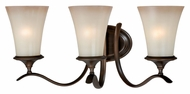 Vaxcel W0038 Sonora Venetian Bronze Finish 10.5  Tall 3-Light Bathroom Vanity Lighting