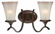 Vaxcel W0039 Sonora Venetian Bronze 10  Wide 2-Light Bathroom Vanity Light