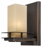 Vaxcel W0043 Oak Park Mission Sienna Bronze Finish 6.75  Wide Sconce Lighting