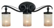 Vaxcel W0045 Elba New Bronze Finish 5.25  Wide 3-Light Bathroom Lighting Fixture