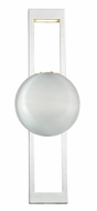 Vaxcel W0065 Aline Modern Polished Nickel Finish 6  Wide LED Bathroom Light Fixture