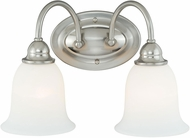 Vaxcel W0073 Concord Satin Nickel 2-Light Bath Lighting Fixture