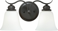 Vaxcel W0086 Darby Noble Bronze 2-Light Bath Sconce