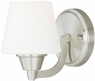 Vaxcel W0097 Calais Satin Nickel Finish 5  Wide Wall Lamp
