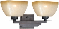 Vaxcel W0113 Descartes II Architectural Bronze 2-Light Bathroom Lighting