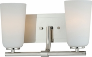 Vaxcel W0117 Napa Contemporary Polished Nickel 2-Light Bathroom Light