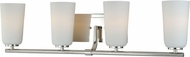 Vaxcel W0119 Napa Contemporary Polished Nickel 4-Light Vanity Lighting