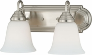 Vaxcel W0132 708 Series Satin Nickel 2-Light Bathroom Light Fixture