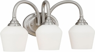 Vaxcel W0142 Grafton Satin Nickel 3-Light Bathroom Wall Sconce