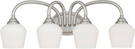 Vaxcel W0144 Grafton Satin Nickel 4-Light Bathroom Light Sconce