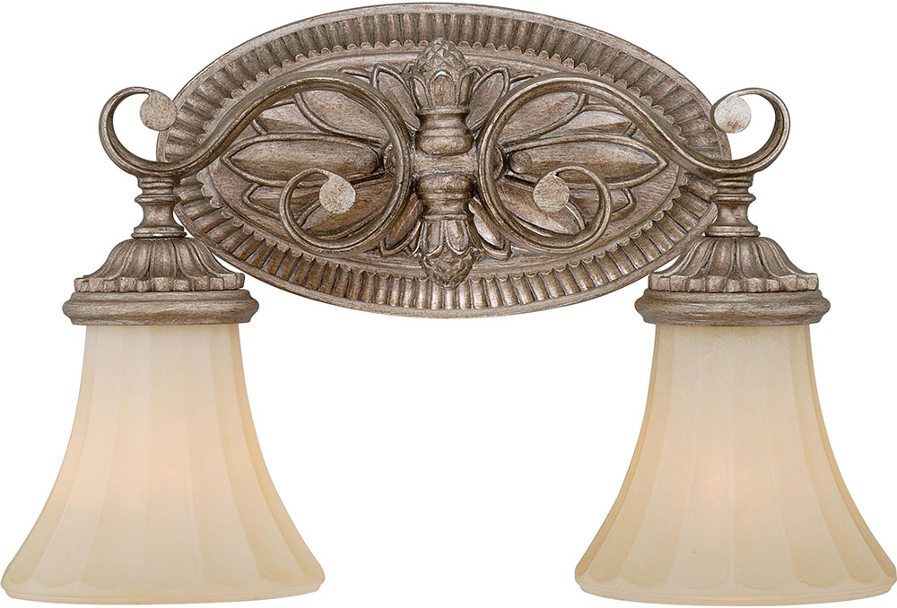 Vaxcel w0155 avenant traditional french bronze 2 light for French country bathroom lighting