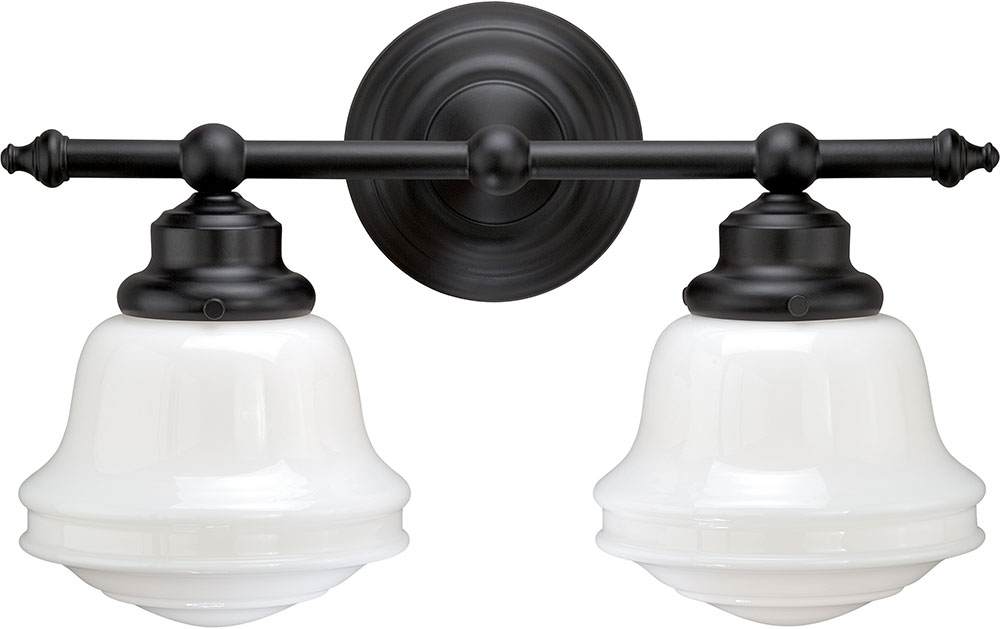 Vaxcel W0168 Huntley Oil Rubbed Bronze 2-Light Vanity Light. Loading Zoom