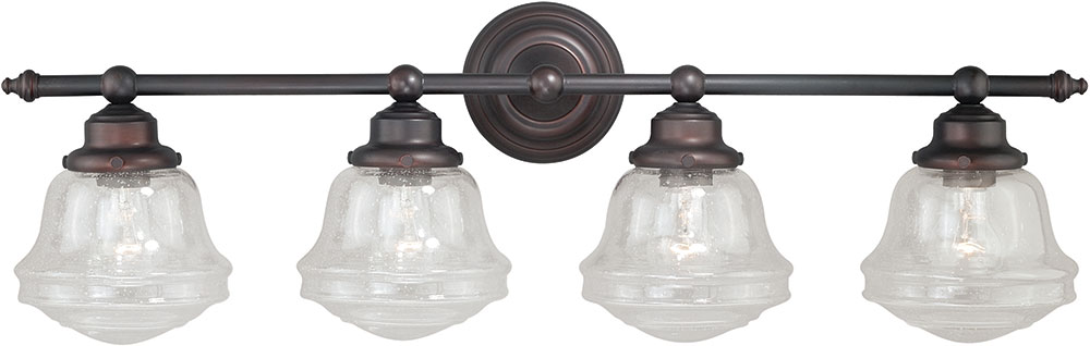 Vaxcel W0191 Huntley Oil Rubbed Bronze 4 Light Bathroom Light Fixture.  Loading Zoom
