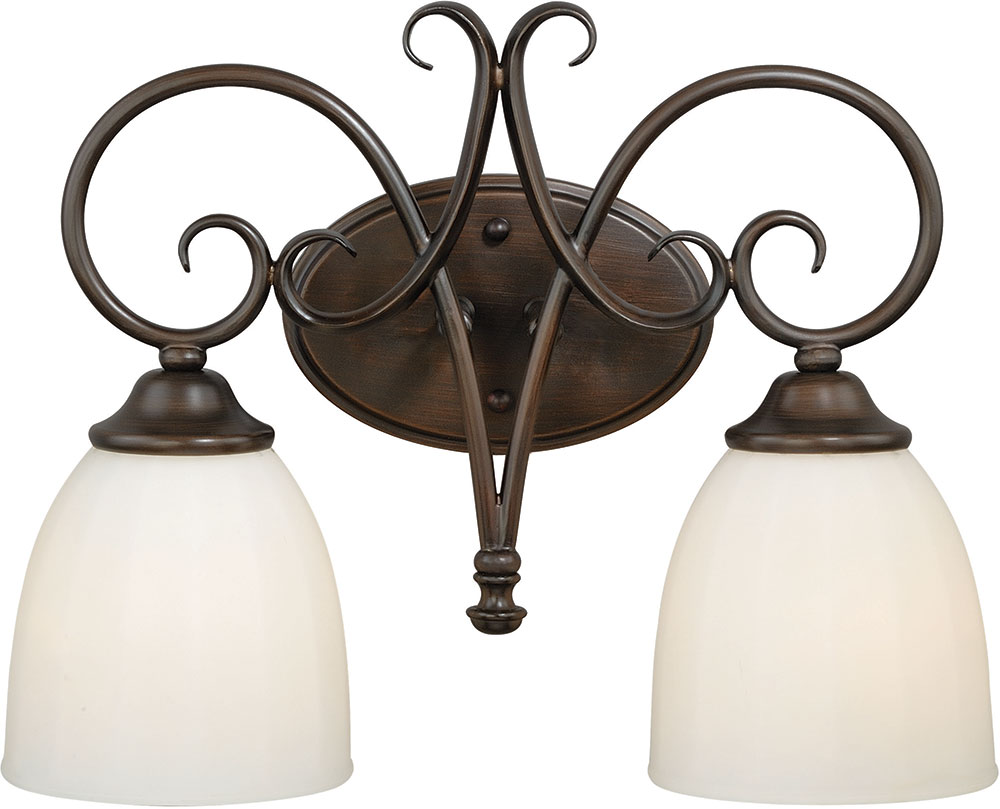 Vaxcel W0192 Claret Venetian Bronze 2 Light Bathroom Vanity Lighting Vxl W0192