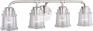 Vaxcel W0242 Toledo Modern Satin Nickel 4-Light Bath Lighting