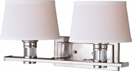 Vaxcel W0248 Ritz Satin Nickel 2-Light Vanity Light