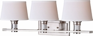 Vaxcel W0249 Ritz Satin Nickel 3-Light Bath Light Fixture