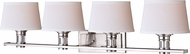 Vaxcel W0250 Ritz Satin Nickel 4-Light Bath Lighting Fixture
