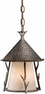 Vaxcel WD-ODD090AA Woodland Rustic Autumn Patina Finish 12.5  Tall Exterior Mini Drop Ceiling Lighting
