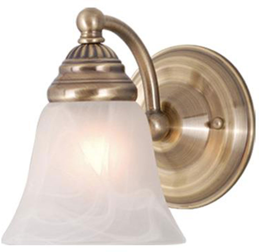 Wall Sconces Antique Brass : Vaxcel WL35121A Standford Antique Brass Wall Sconce - VXL-WL35121A
