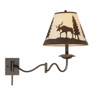 Vaxcel WL55612BBZ Yellowstone Rustic Burnished Bronze Finish 18  Tall Wall Swing Arm Lamp