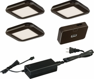 Vaxcel X0032 Modern Bronze LED Under Counter Light - 3 Light Kit