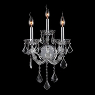 Worldwide W23113C12-CL Lyre Polished Chrome Finish 12 Wide Lamp Sconce