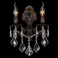 Worldwide W23313F12 Versailles Flemish Brass Wall Light Sconce