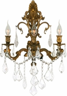 Worldwide W23316FG17 Versailles French Gold Wall Lamp
