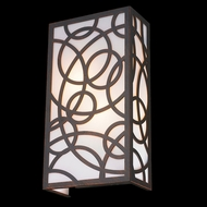 Worldwide W23957F8 Cumulus Contemporary Flemish Brass Wall Light Sconce