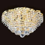 Worldwide W33017G16 Empire Polished Gold Ceiling Lighting Fixture