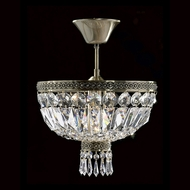 Worldwide W33087B12 Metropolitan Crystal Antique Bronze Finish 12  Wide Ceiling Lighting