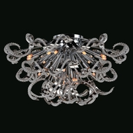 Worldwide W33112C26 Medusa Polished Chrome Finish 12  Tall Ceiling Light