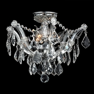 Worldwide W33116C16-CL Bayou Polished Chrome Clear Ceiling Lighting