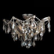 Worldwide W33116C20-GT Bayou Polished Chrome Clear Ceiling Light Fixture