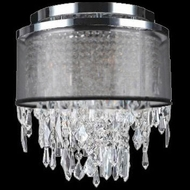 Worldwide W33125C12-BSO Tempest Polished Chrome Flush Mount Lighting Fixture