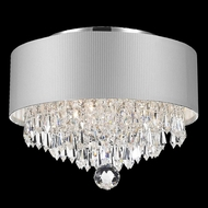 Worldwide W33137C12-SV Gatsby Polished Chrome Overhead Light Fixture