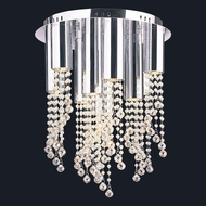 Worldwide W33138C15-CL Metropolis Polished Chrome Halogen Ceiling Light