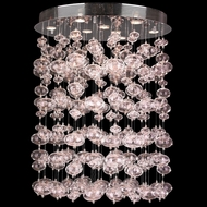 Worldwide W33153C28 Effervescence Modern Polished Chrome Halogen Multi Pendant Light Fixture