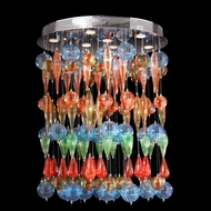 Worldwide W33153C28-ML Niagara Modern Polished Chrome Multi Color Halogen Multi Pendant Lighting