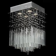 Worldwide W33261C12-CL Torrent Polished Chrome Halogen Multi Ceiling Pendant Light